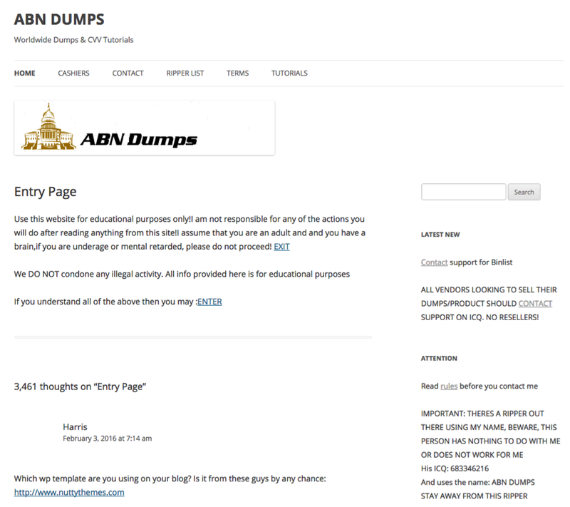 Cvv Credit Card Dumps A Look Into The World Of Rippers Scammers And Carders Riskiq