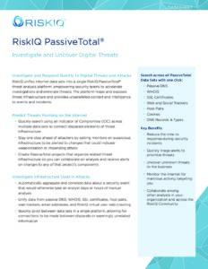 PassiveTotal-RiskIQ-Datasheet