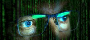 close up of computer hacker