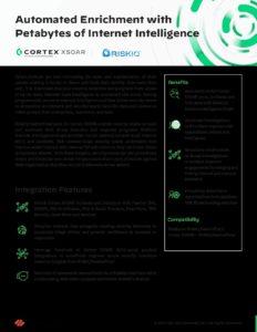 RiskIQ PassiveTotal Palo Alto Networks Solution Brief