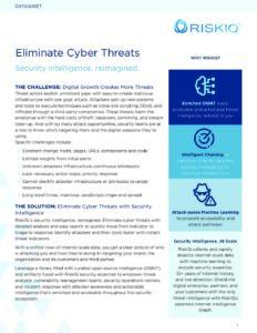 Eliminate Cyber Threats RiskIQ Solution Brief