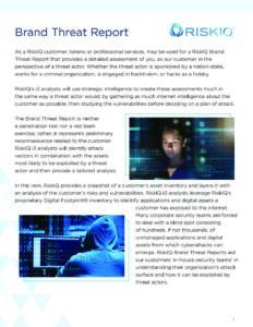 RiskIQ's Brand Threat Model